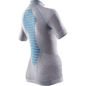 X-Bionic Apani Merino Zip Up SS Shirt Lady White/Grey/Turquoise